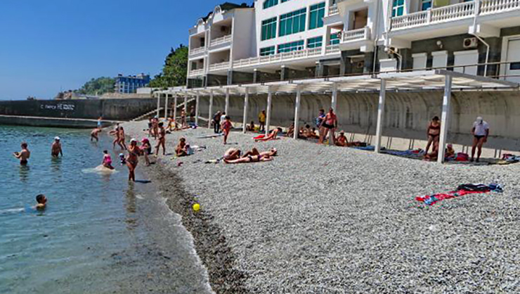 Пляж санатория «Горное Солнце»