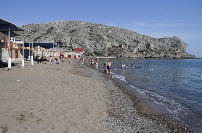 Пляж детского лагеря