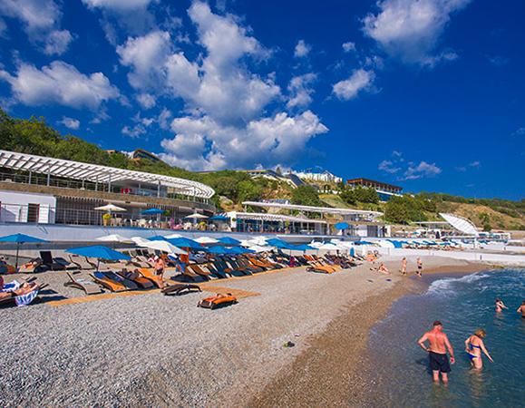 Пляж отеля «Мрия»