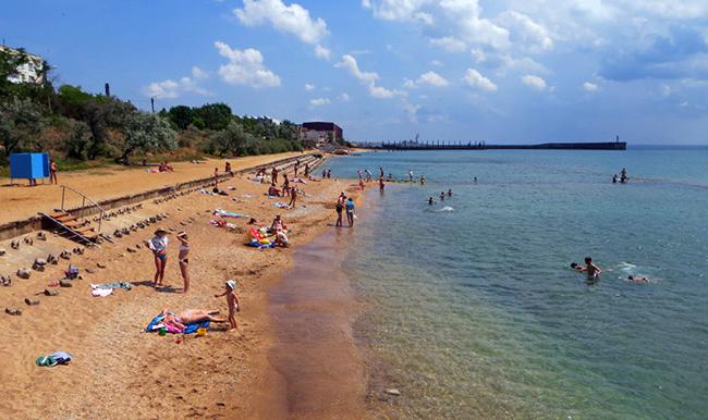 Пляж поселка Приморский