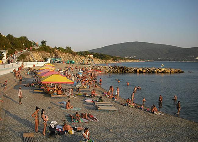 Пляж пансионата «Виктория»