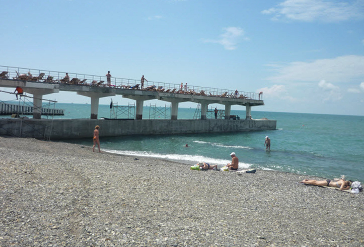 Пляж филиала санатория «Аврора»