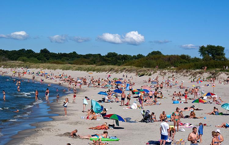 Пляж в Балтийске