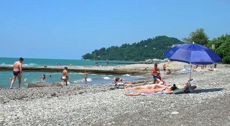 Дикий пляж Кудепсты