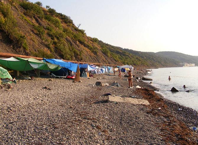 Дикий пляж Алушты