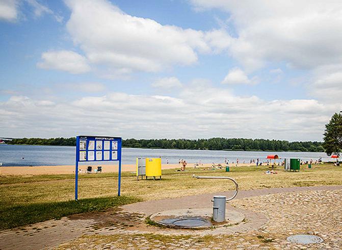 Пляжная зона №1 водохранилища Дрозды