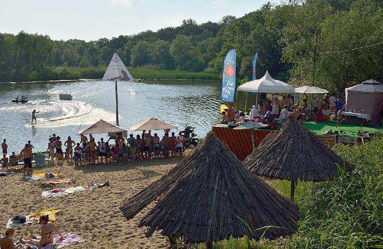 Пляж базы «Хуторок»