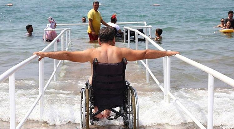 Пляжное место отдыха для инвалидов на Заславском водохранилище