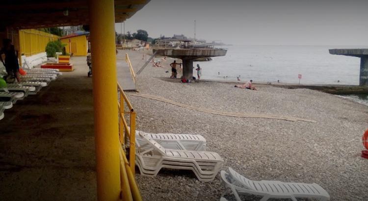 Пляж санатория «Кудепста»