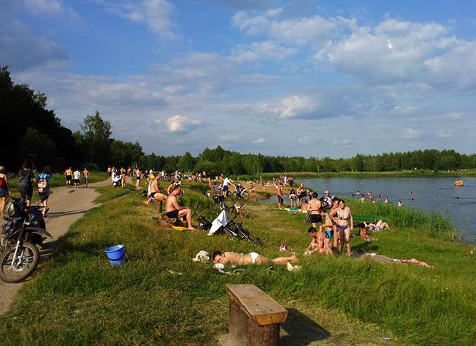 На озере Торфянка