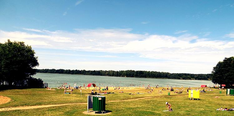 Пляжная зона №2 водохранилища Дрозды