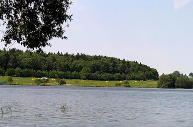 Пляж на Волчковичском водохранилище