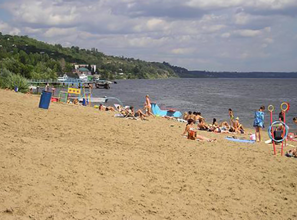 Пляж в Затоне