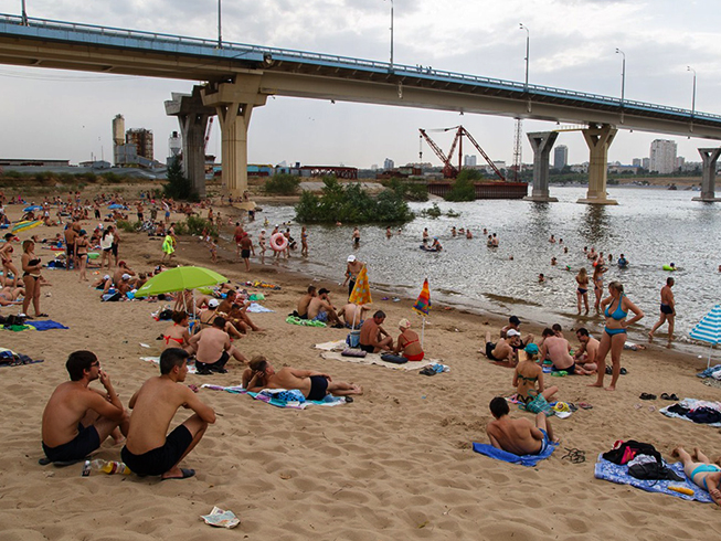 Пляж хутора Бобры