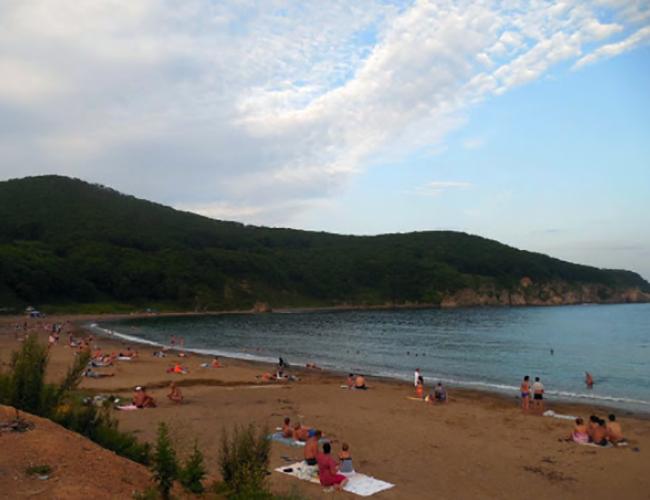Пляж Читувай в бухте Мусатова