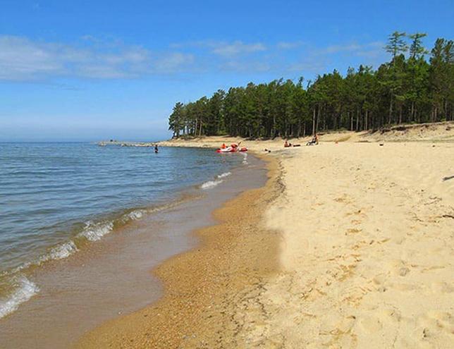 Пляж села Горячинск