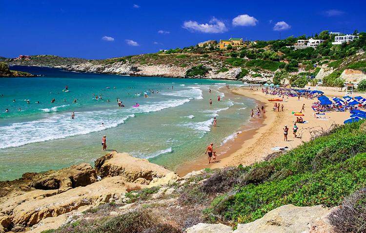 Курортный берег Калатас (Kalathas beach, Καλαθάς)
