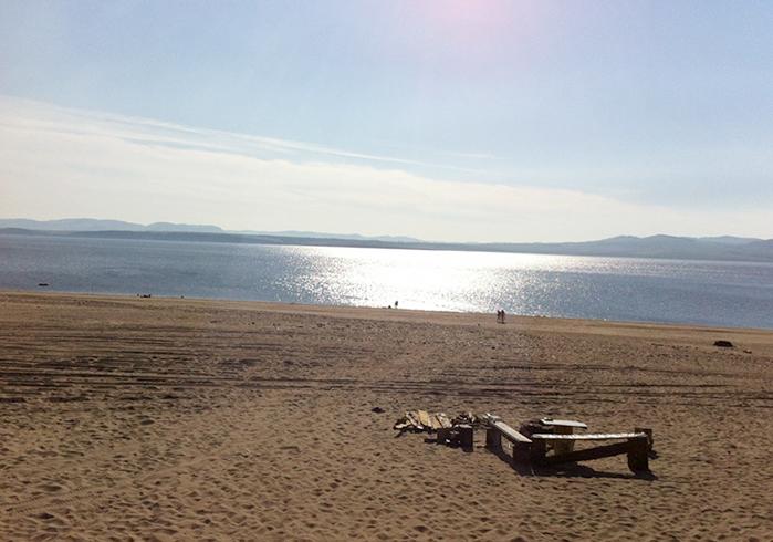 Пляжи на Красноярском море