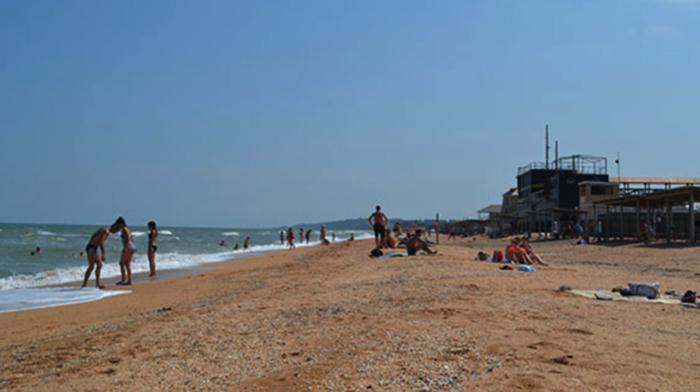 Пляж поселка Пересыпь