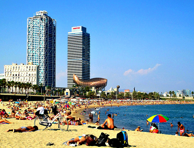 Барселонета (Barceloneta beach)