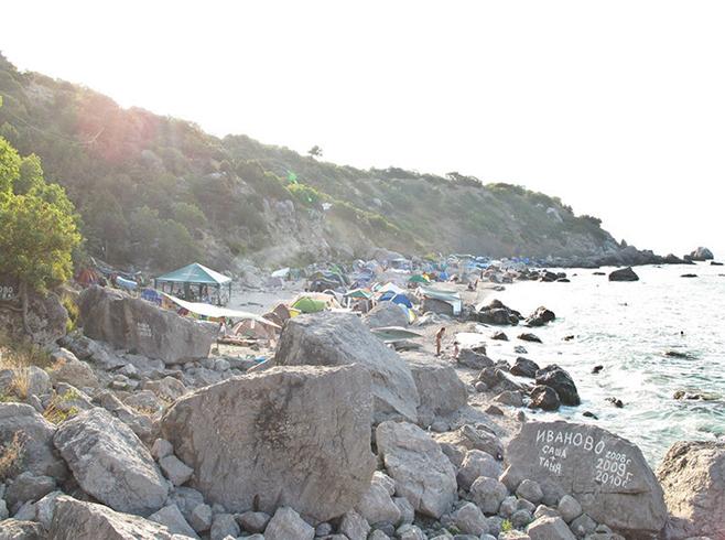 Нудистский пляж в Форосе