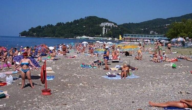 Пляж санатория «Хоста»