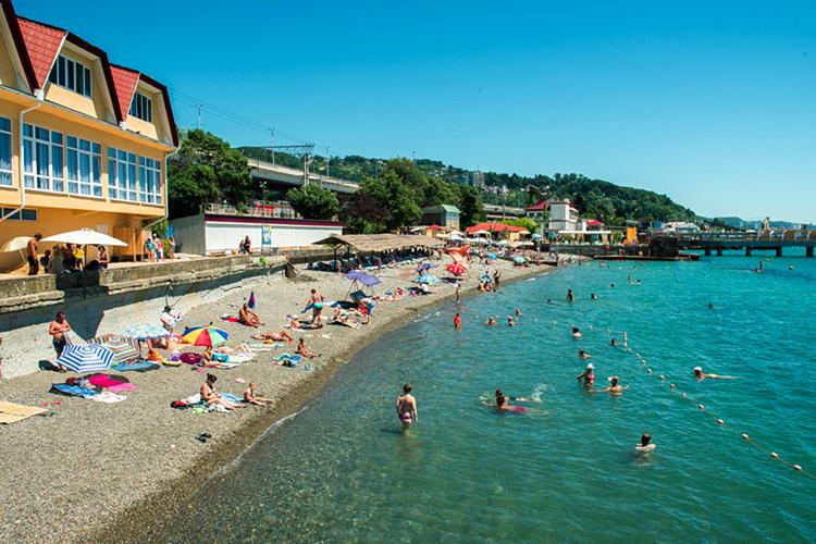 Пляж санатория «Кавказ»