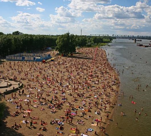 Центральный пляж Академгородка («Сан-Сити»)