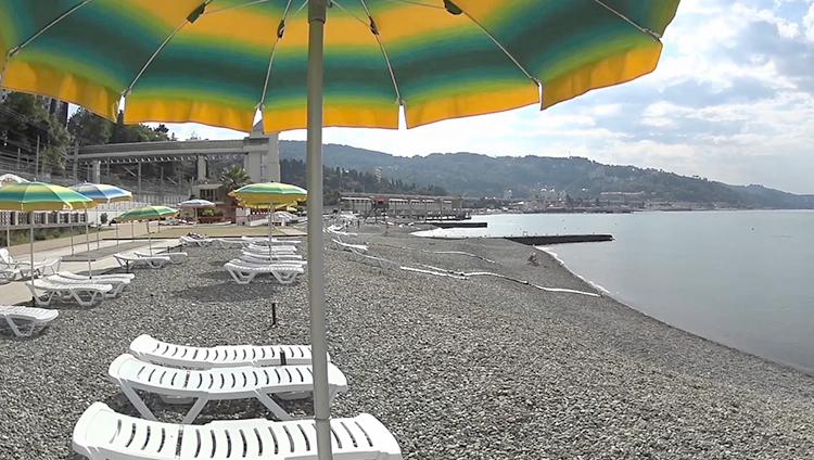 Пляж санатория «Мыс Видный»