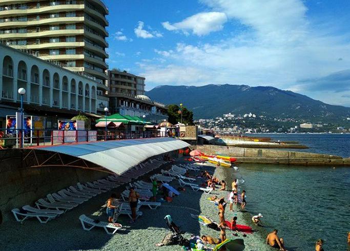Пляж спа-отеля «Ливадийский»