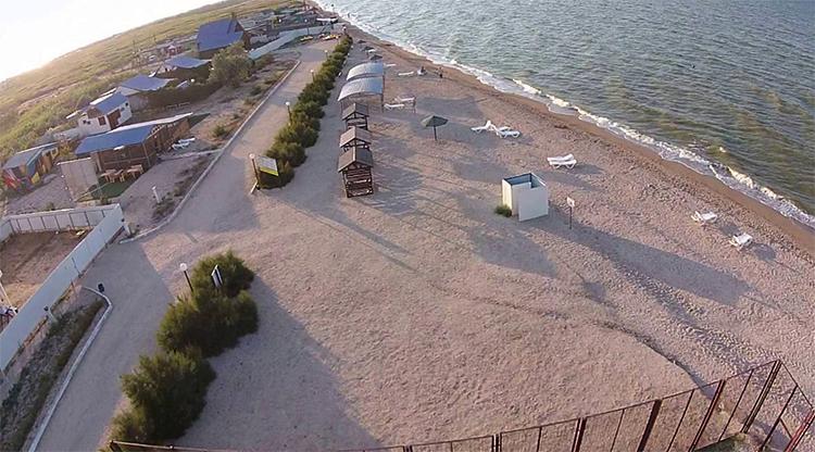 Пляж базы отдыха «Роза ветров»