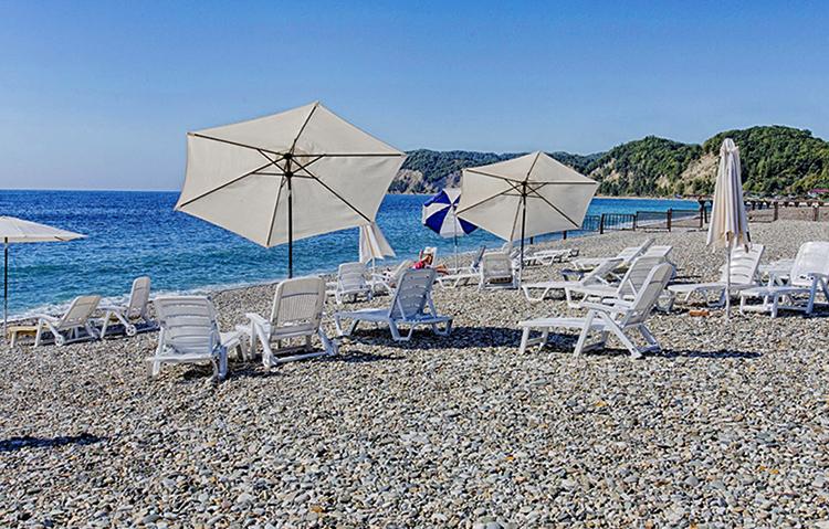 """Пляж отеля """"Дельфин"""""""